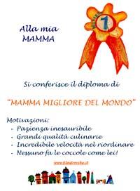 """Diploma """"Mamma migliore del mondo"""""""