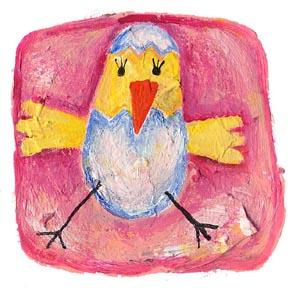 Illustrazione su menù, segnaposto, biglietti di Pasqua di Filastrocche.it