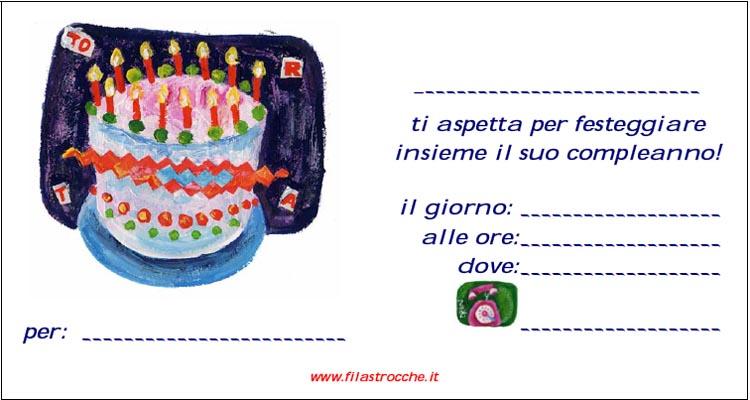 Feste Di Compleanno Biglietti Di Invito Da Stampare Blogmamma It