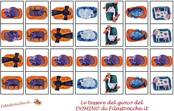 Fabuleux Giochi per bambini: il Domino da stampare e ritagliare - Blogmamma  ZW76