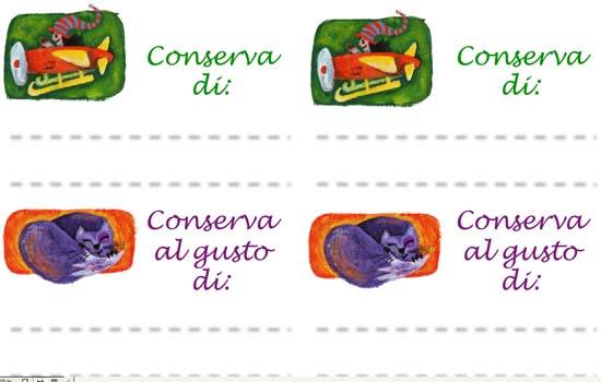 Le etichette per conserve e marmellate da stampare e ritagliare di Filastrocche.it