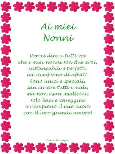 La poesia in cornice per la Festa dei Nonni di Filastrocche.it