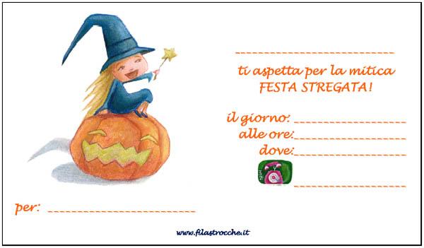 Invito alle feste di Halloween di Filastrocche.it