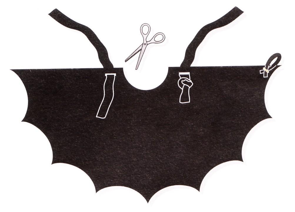 Costumi di halloween fai da te pagina 2 di 2 blogmamma - Contorno immagine di pipistrello ...