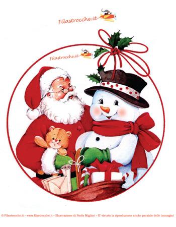 Pallina albero natale da stampare - Decorazioni natalizie da ritagliare ...