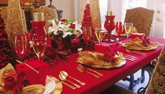 Tavola natalizia - Addobbi natalizi per tavola da pranzo ...
