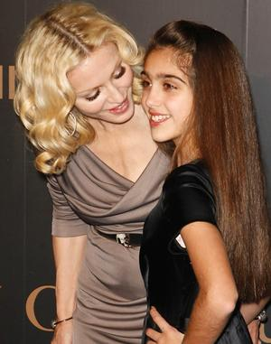 Madonna  with her daughter, Lourdes Maria Ciccone Leon.