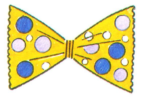 Papillon pagliaccio for Papillon bambino fai da te