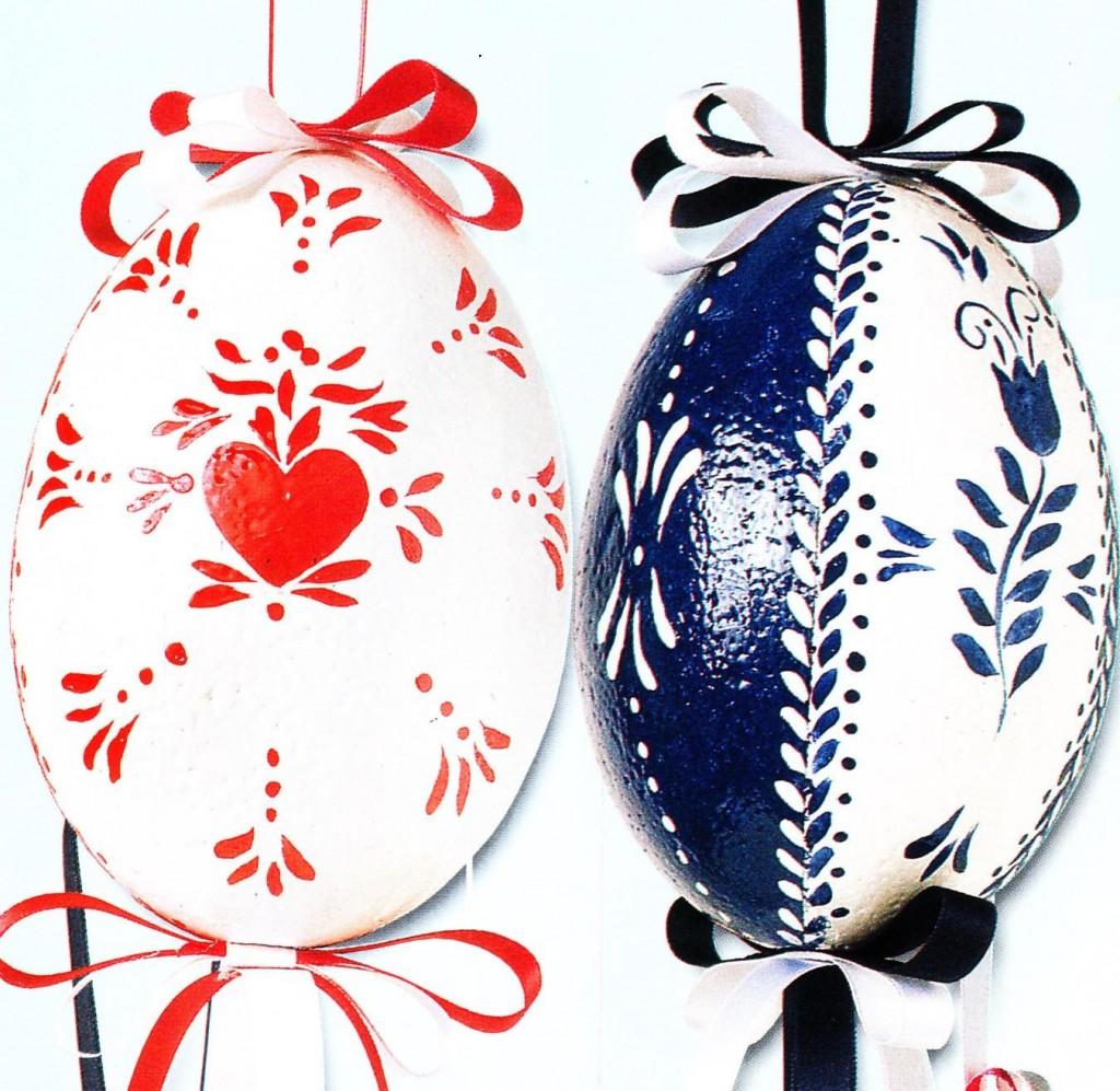 Decorazioni pasquali fai da te uova smaltate decorate - Decorazioni pasquali fai da te ...