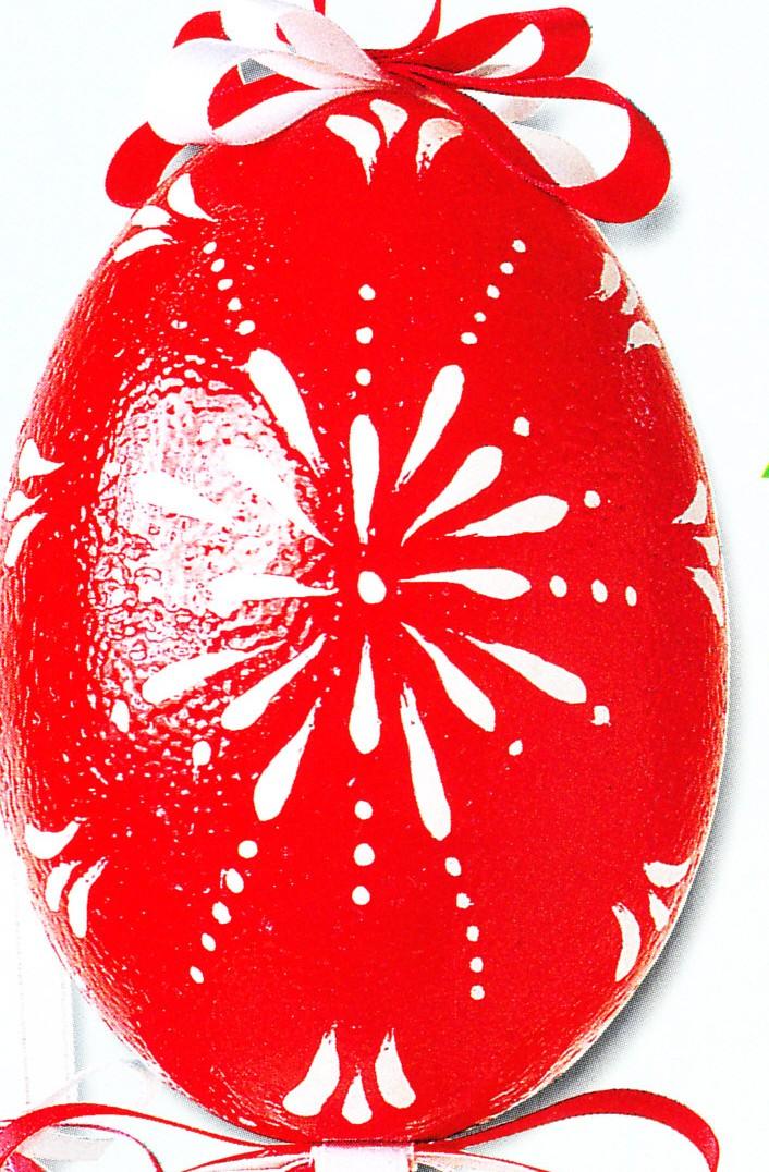 Decorazioni pasquali fai da te uovo smaltato rosso - Decorazioni pasquali fai da te ...