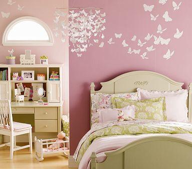 Cameretta farfalle stencil - Stencil camera da letto ...