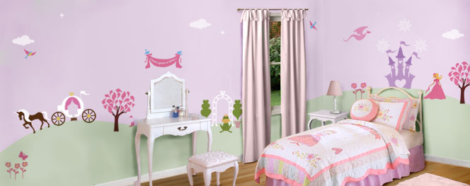 Una tecnica per decorare la cameretta del bambino lo for Diy princess bedroom ideas