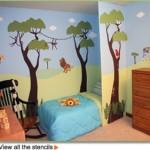 cameretta-stencil-giungla
