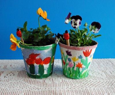 Lavoretti fai da te per la festa della mamma - Vasi decorati fai da te ...