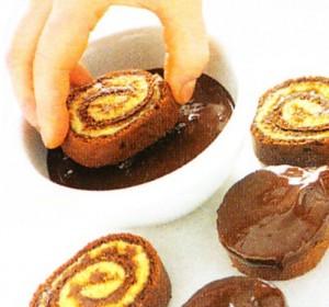 ricetta della girella con il bimby al cioccolato