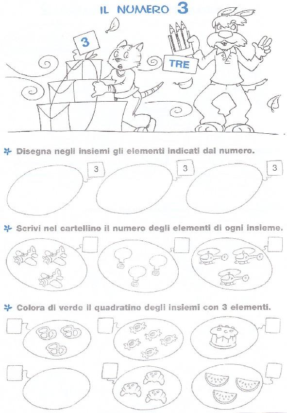 Famoso esercizi-matematica-scuola-elementare-numero-3 - Blogmamma.it  CP43