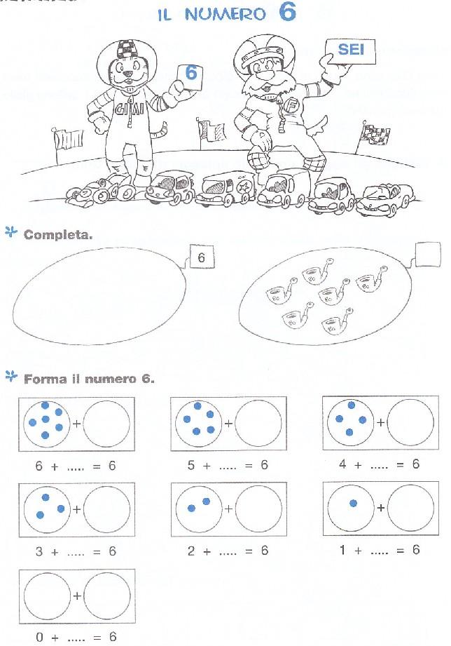 Esercizi matematica scuola elementare numero 6 - Torna a scuola da colorare ...