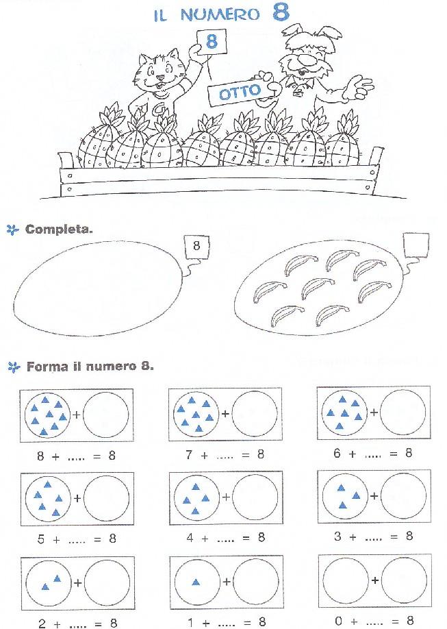 Ben noto Esercizi di matematica per bambini scuola elementare, da stampare  ZO72