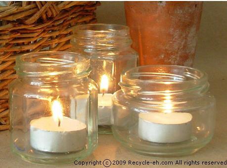 Ecologia e riciclo creativo recuperare i vasi di vetro for Vasi di vetro ikea