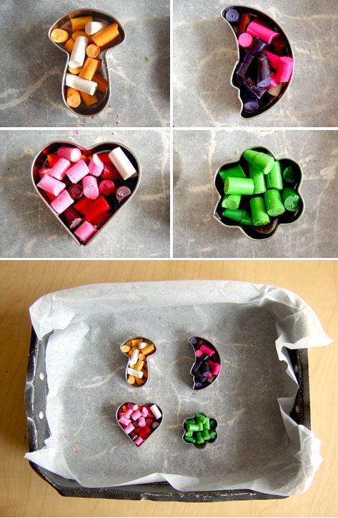 riciclare pastelli a cera