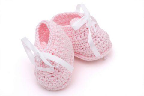 scarpine per neonato rosa