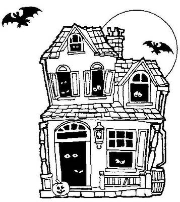 Halloween disegni stampare colorare casa stregata for Halloween house coloring pages