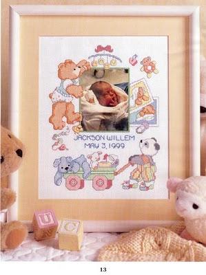 Schema punto croce quadro nascita gratis