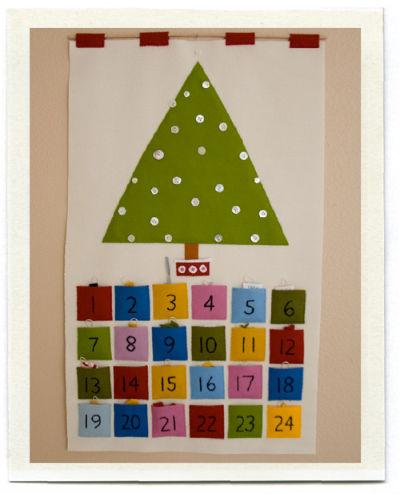 Calendario avvento fai da te pannello for Calendario avvento fai da te