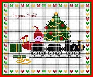 Natale schemi punto croce treno for Schemi di cabina di log