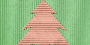 albero di natale di carta riciclata