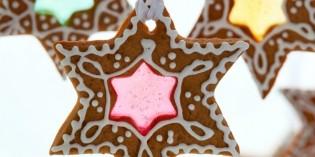 gingerbread trasparenti da appendere alla finestra