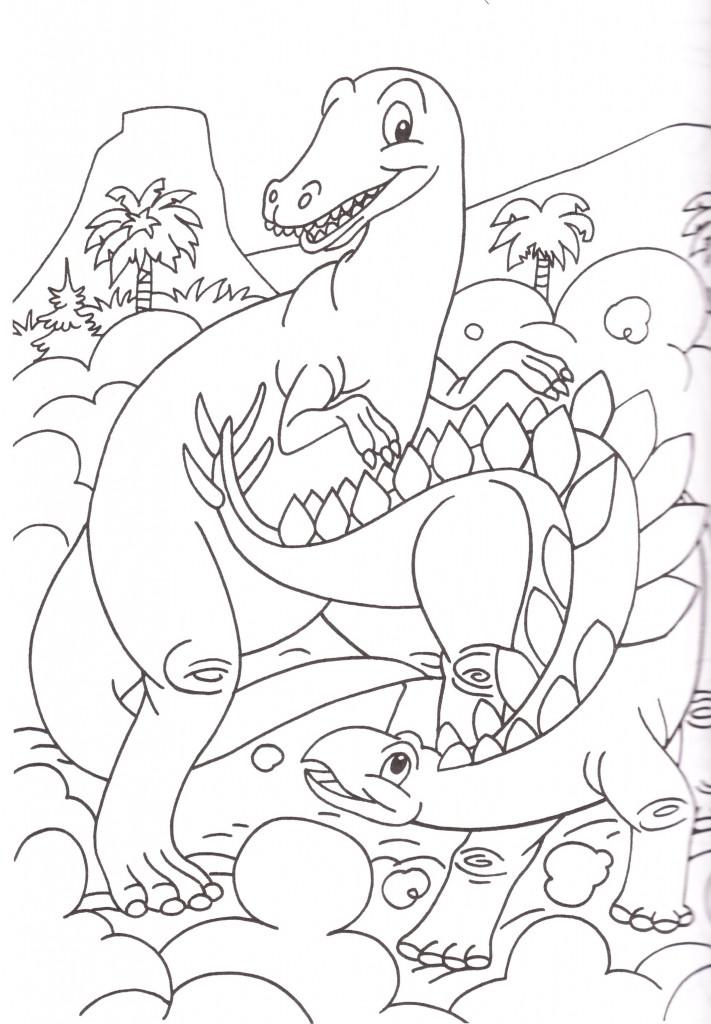 Disegni bambini colorare stampare dinosauri for Disegni da colorare per adulti e ragazzi