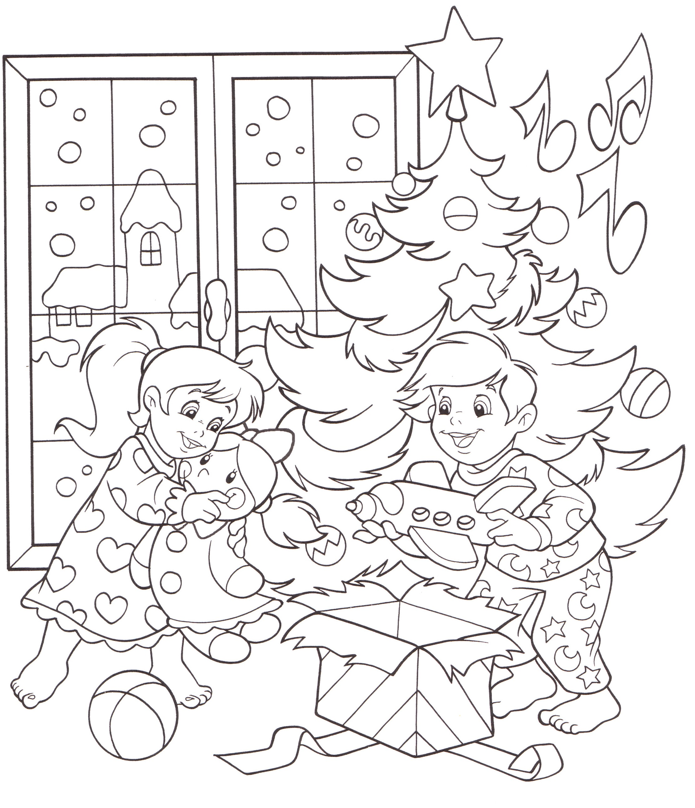 Disegni bambini colorare stampare natale bimbi giocano for Disegni di natale facili per bambini