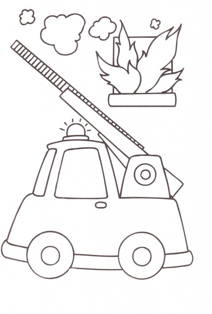 Disegni Bambini Stampare Colorare Camion Pompieri Blogmammait