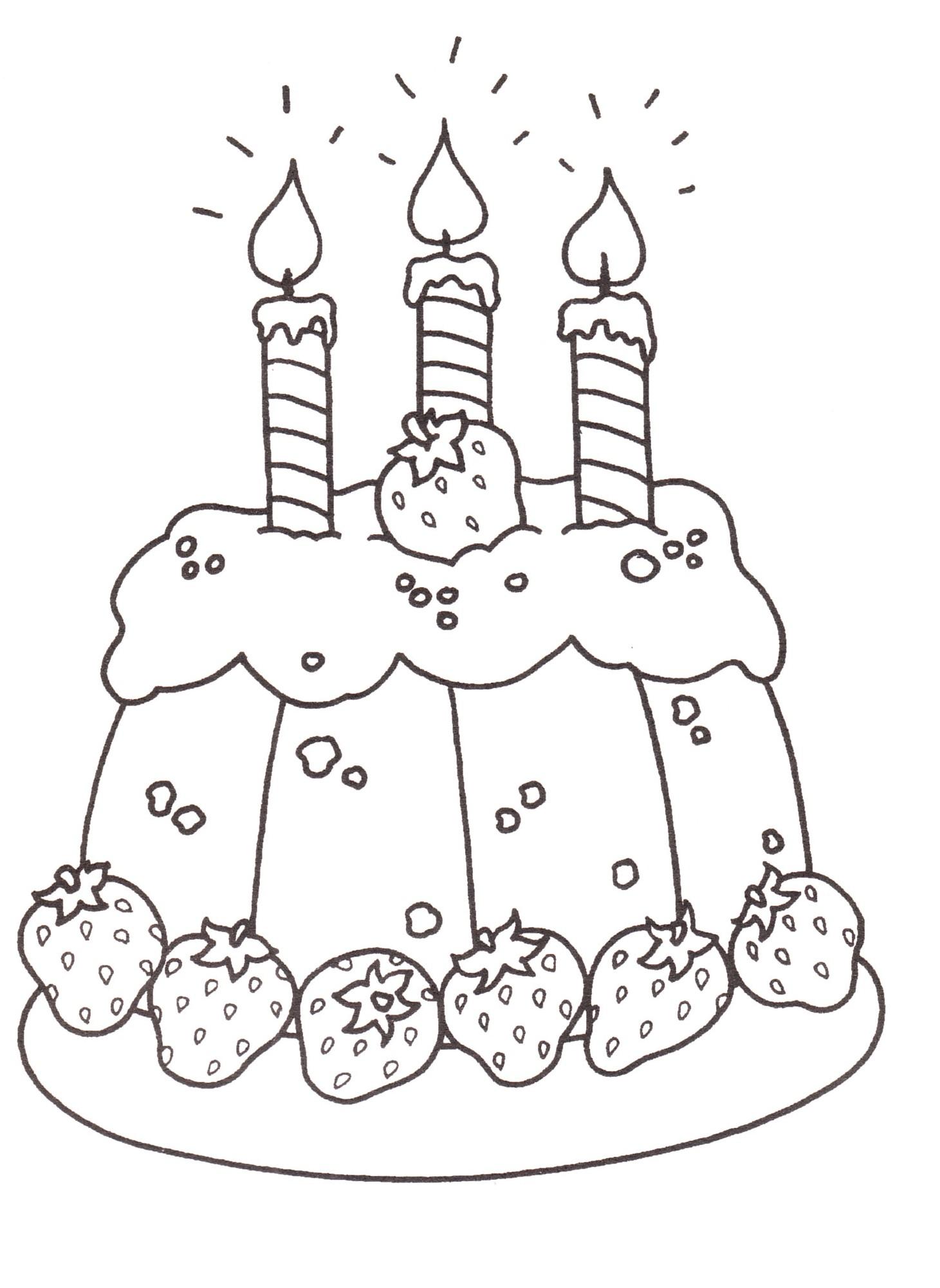Disegni bambini stampare colorare torta compleanno - Disegni di casa da colorare per bambini ...