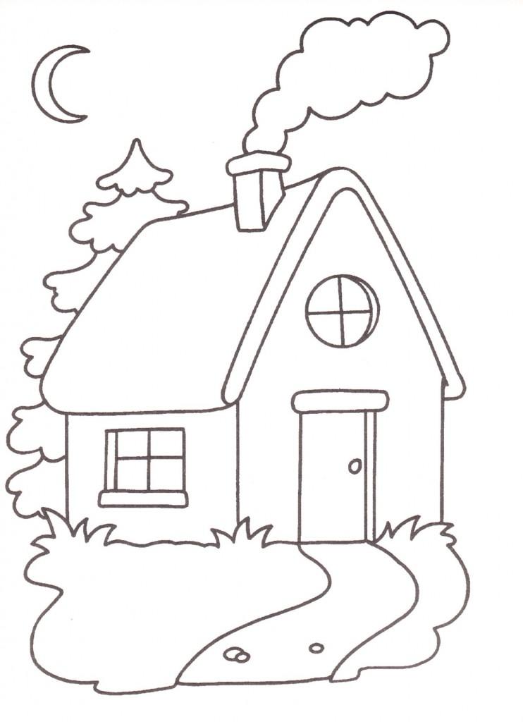 Disegni da stampare e colorare casa for Log casa disegni e prezzi