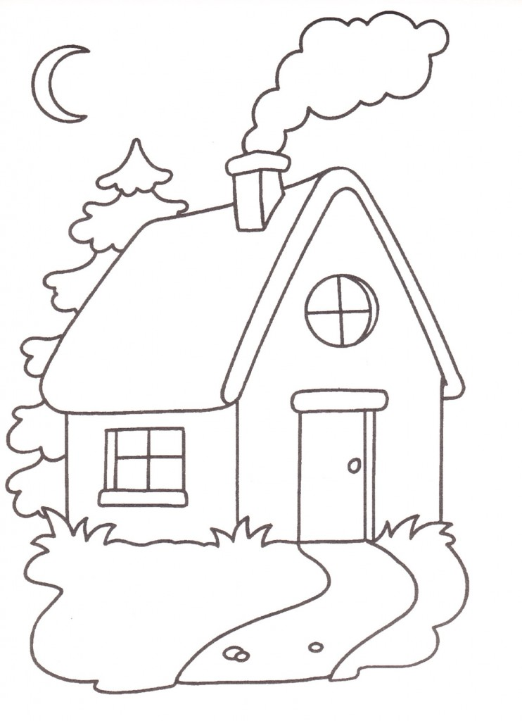 Disegni da stampare e colorare casa for Bellissimi disegni per la casa