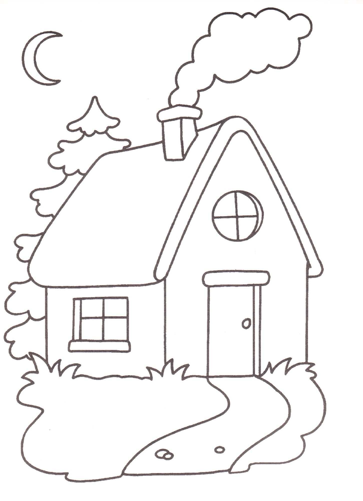Disegni da stampare e colorare casa - Porta da colorare ...