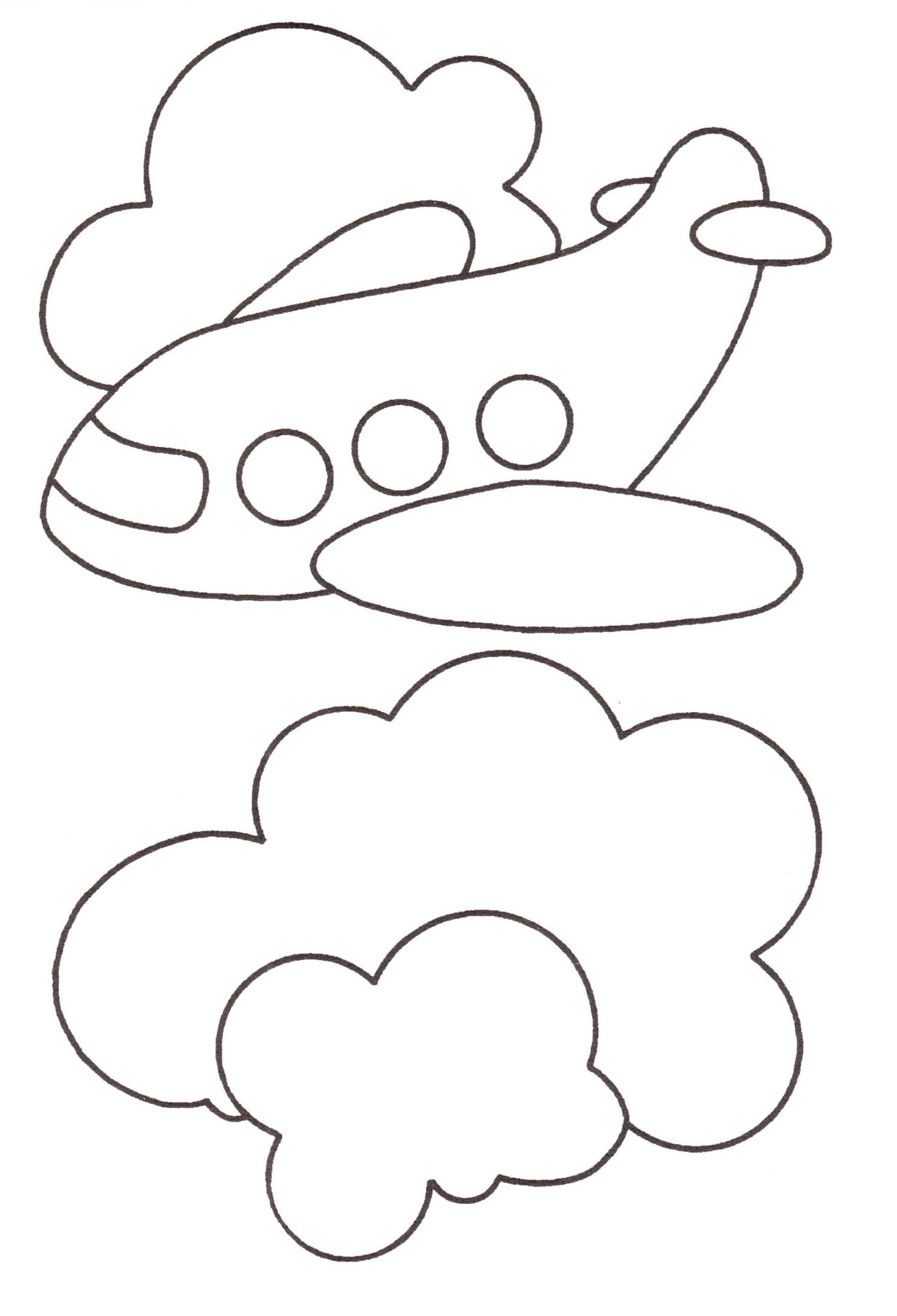 Disegni stampare colorare bambini aereoplano blogmamma for Neonati da colorare e stampare