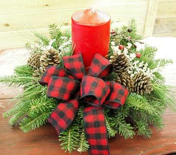Natale decorare la tavola centrotavola - Centro tavola di natale ...