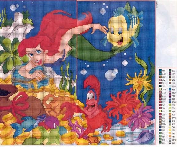 Schemi a punto croce le principesse disney for Disney punto croce schemi gratis