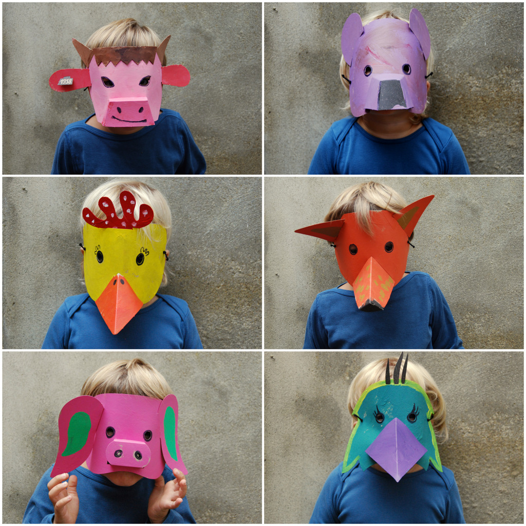 Maschere di carnevale fai da te gli animali mamma