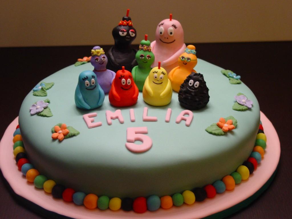Torte compleanno barbapapa cioccolato mamma