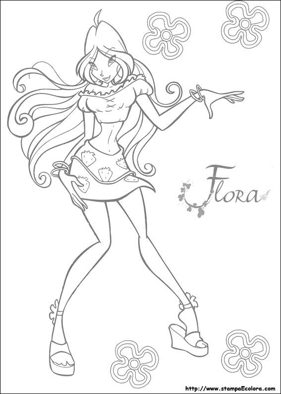 Winx disegni da colorare flora - Coloriage winks ...