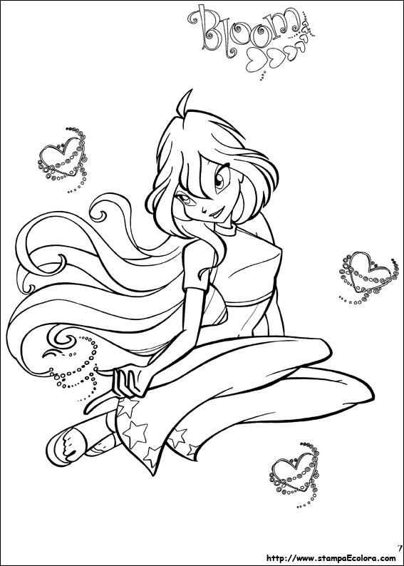 Winx disegni da colorare for Bloom winx coloring pages