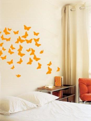 Cameretta bambini adesivi farfalle - Decorare cameretta neonato ...
