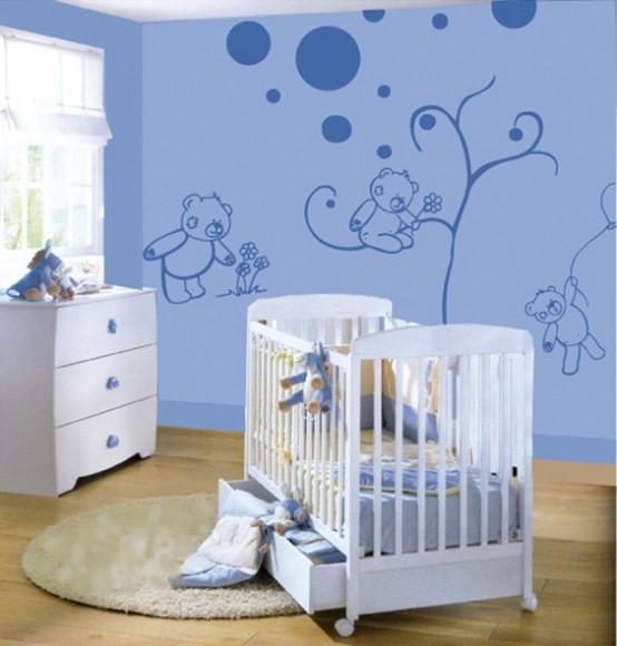 Decorare la cameretta dei bambini con gli adesivi - Decorare cameretta neonato ...