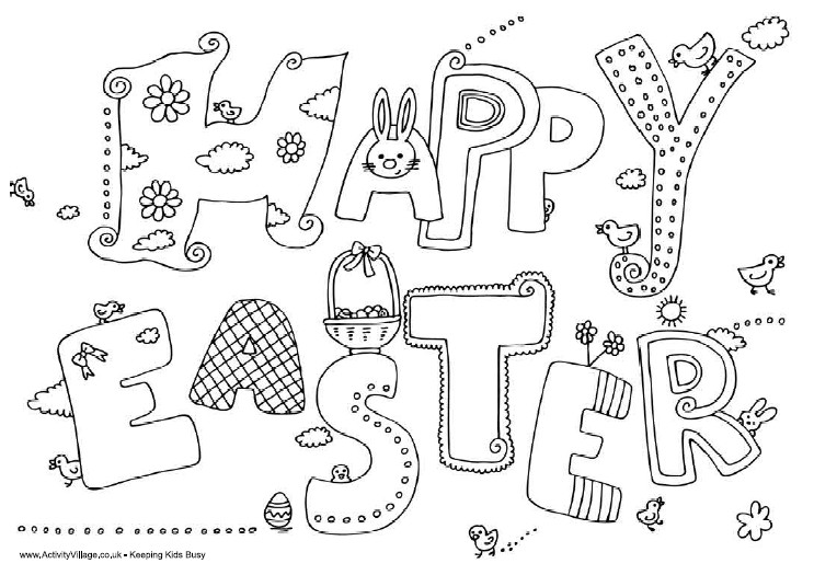 complex easter coloring pages - photo#32