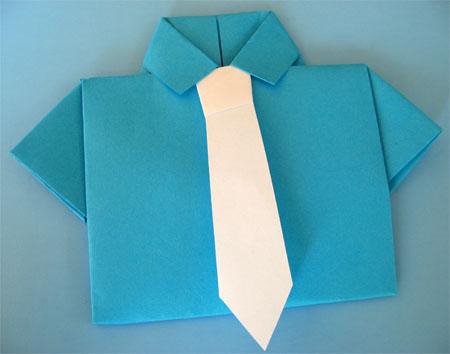 Оригами папе на день рождения своими руками
