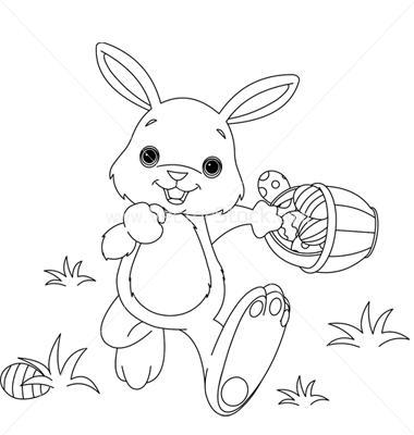 Coniglietto di pasqua da colorare - Coniglietto da colorare pagine stampabili ...